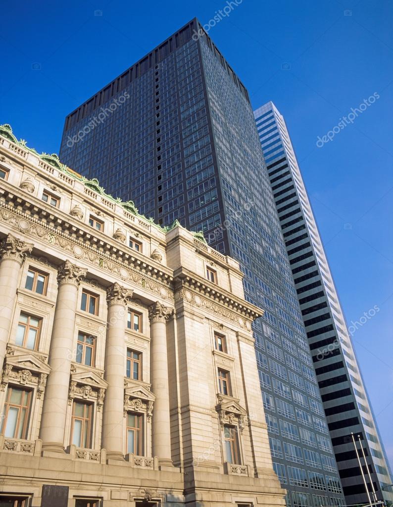 Architettura di new york vecchio e nuovo foto stock for New york architettura