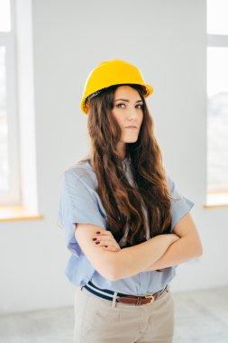 girl in yellow helmet