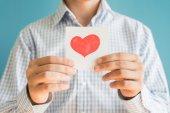 Fotografia icona del cuore su carta