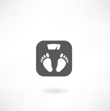 Scale icon button clip art vector