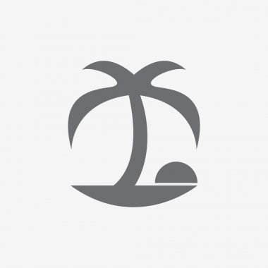 Coconut palm tree icons