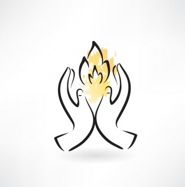 Warm hands icon clip art vector