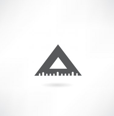 Triangular ruler icon illustration clip art vector