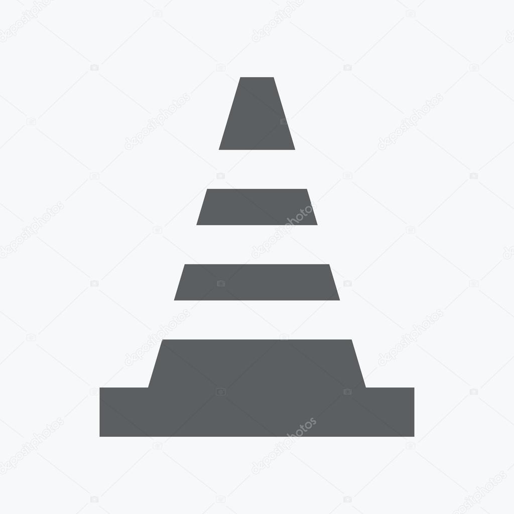Striped road cone — Stock Vector © file404 #51958751