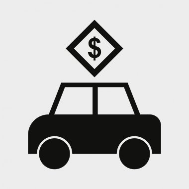 Car with dollar icon