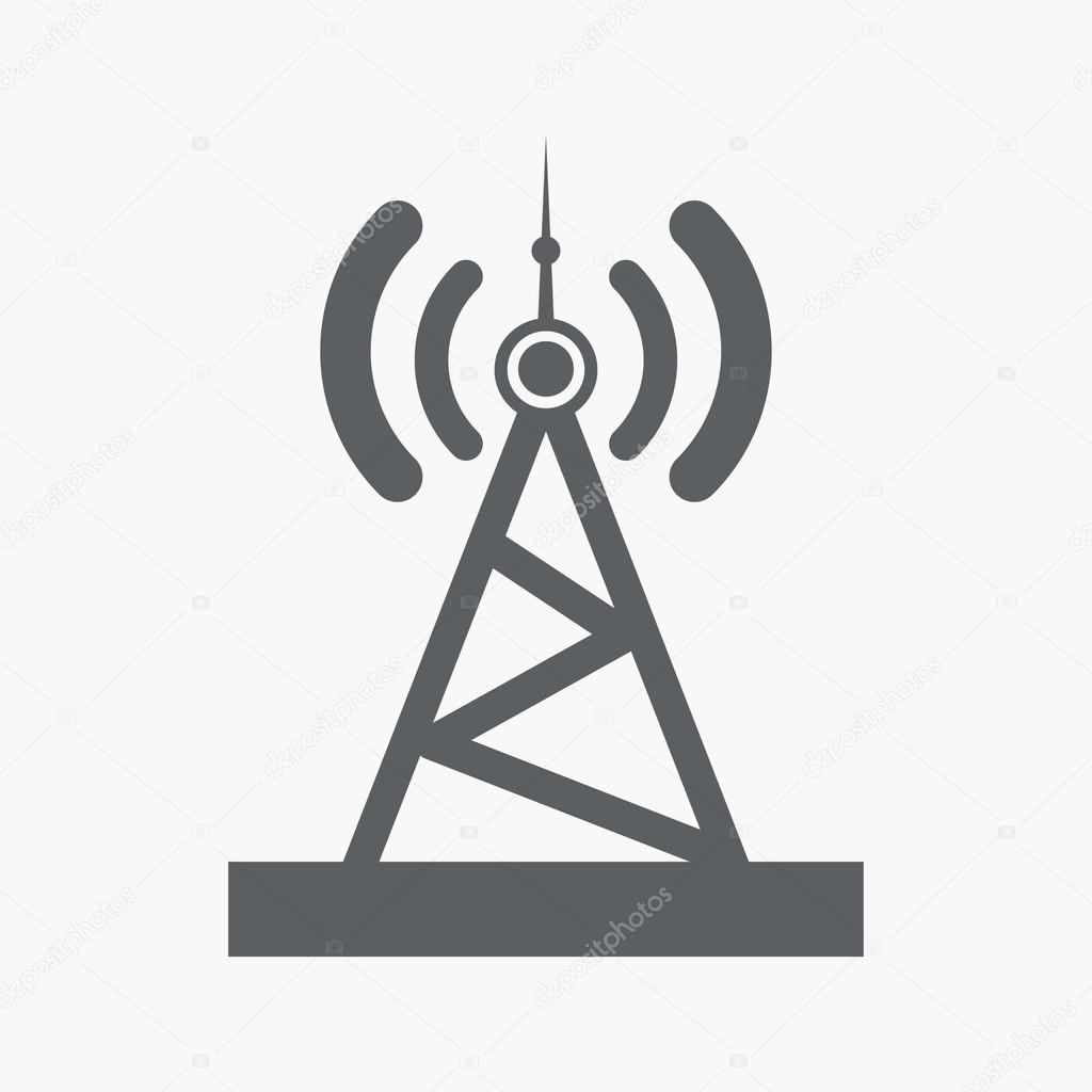 Radio tower icon — Stock Vector © file404 #51963737