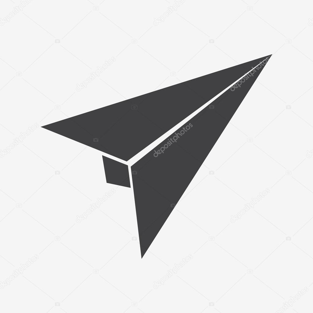 Origami Paper Plane Stock Vector