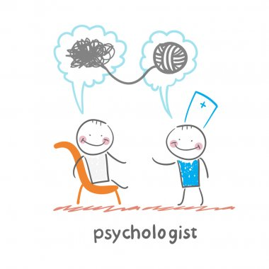 Psychologist says to the patient