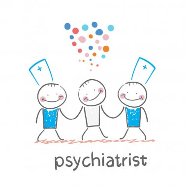 Psychiatrists go to the patient