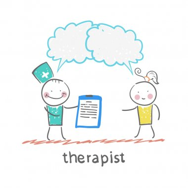 Therapist and  patient