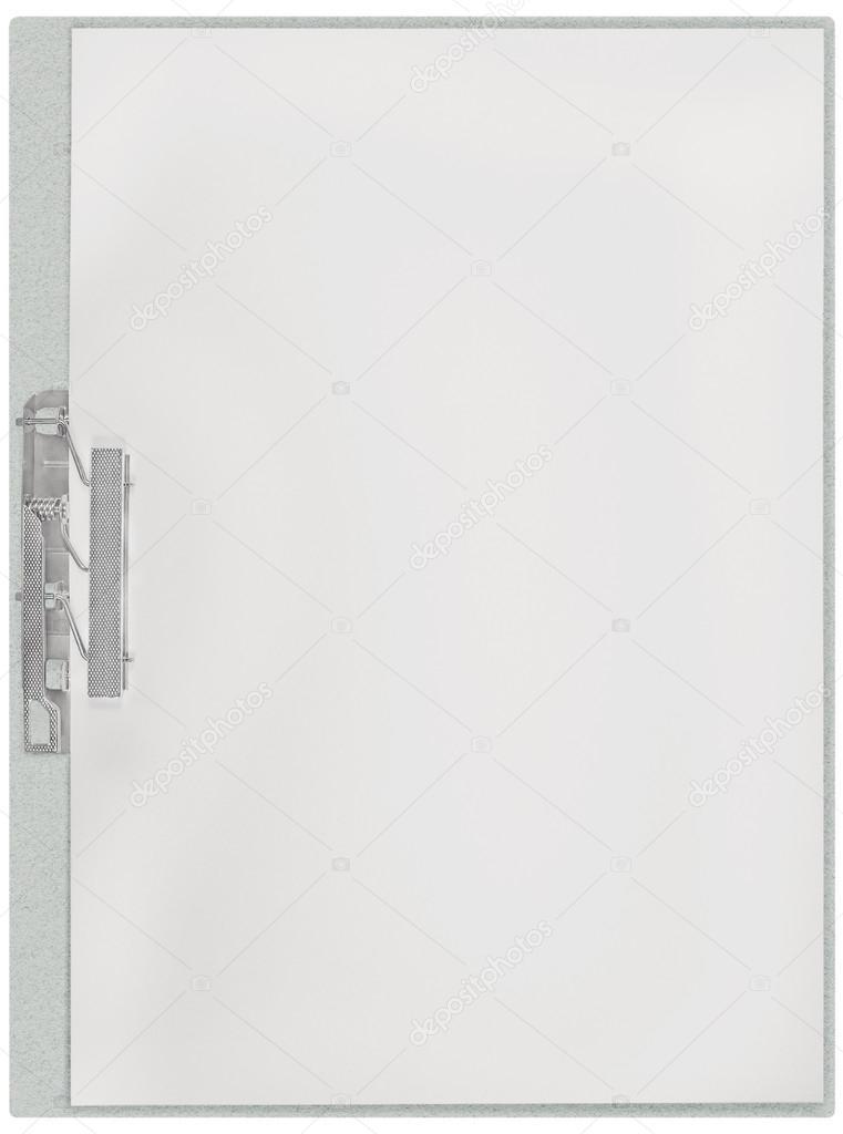 Portapapeles vertical, espacio en blanco vacío aislado fondo de ...