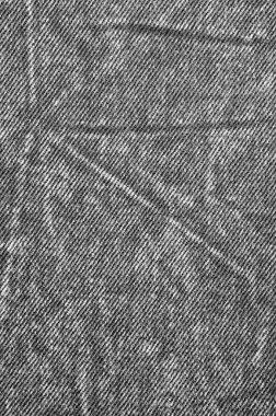Natural Black Linen Denim Cotton Jeans Texture, Large Detailed Vertical macro closeup worn pattern copy space, grey, white