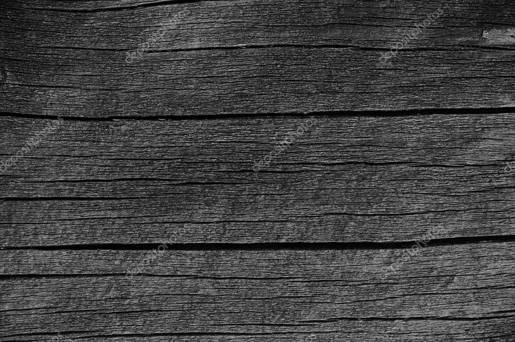 Wooden Plank Board Grey Black Wood Tar Paint Texture Detail Large Old Aged Dark Gray Detailed Cracked Timber Rustic Macro Closeup Pattern