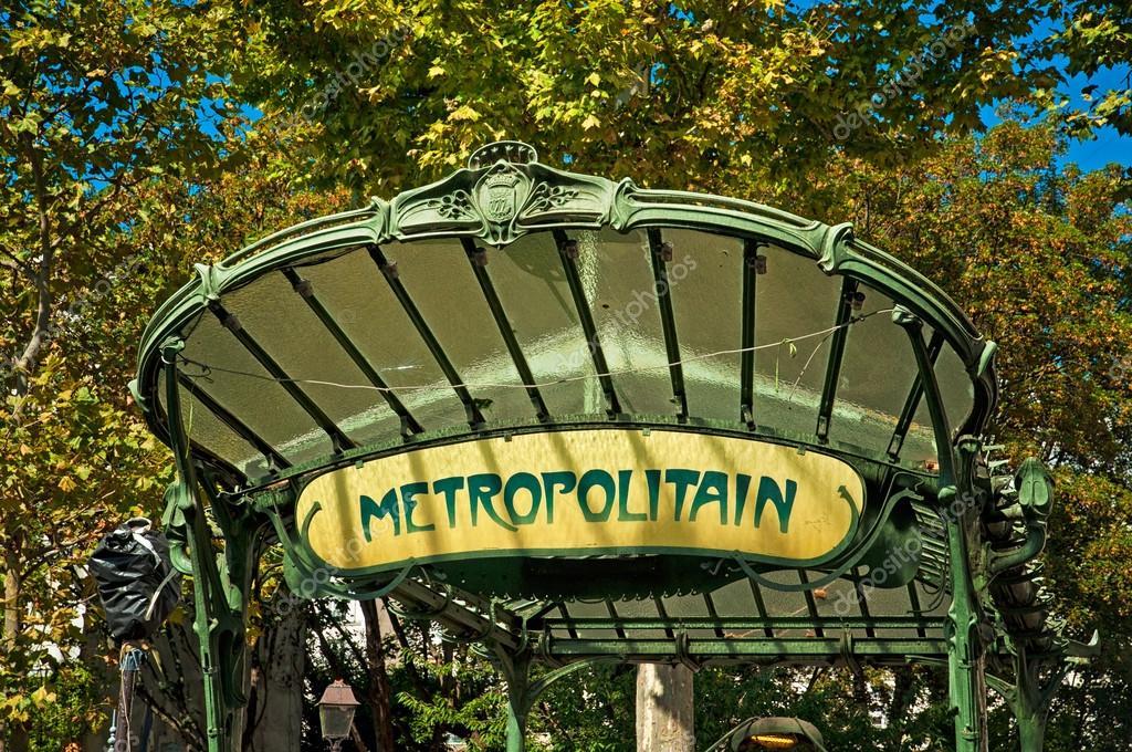 Art Nouveau entrance to Paris Metro – Stock Editorial Photo © Botond ...
