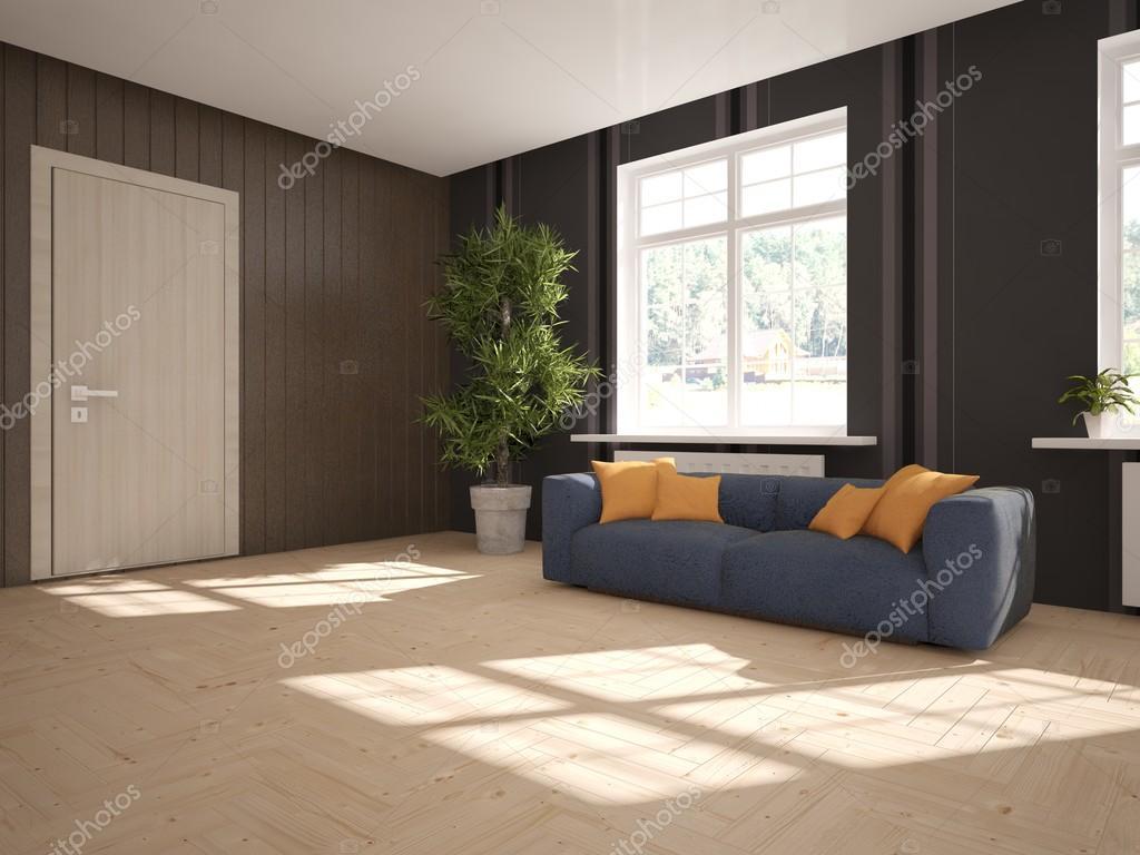 weiße Interior Design mit modernen Sofa. Skandinavischen Stil. 3D ...
