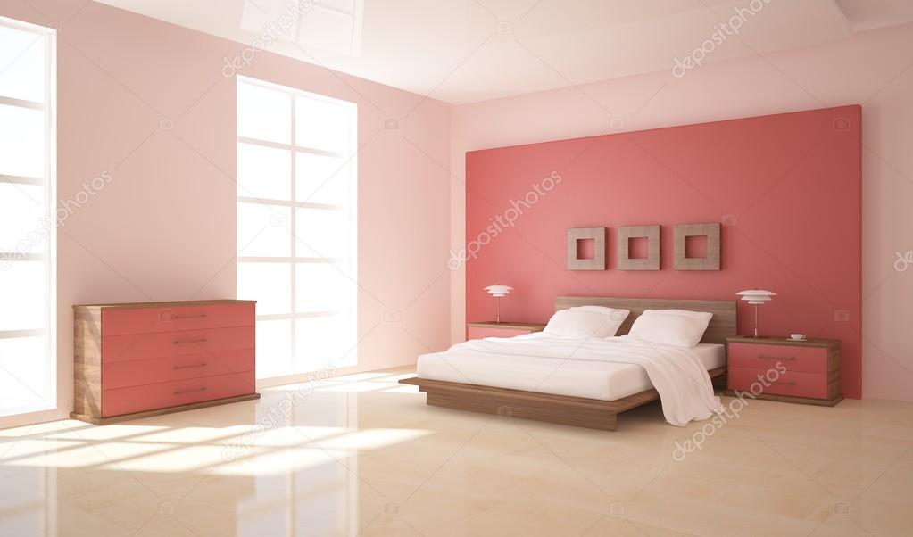Moderne 3d slaapkamer ontwerp — Stockfoto © antoha713 #60959533