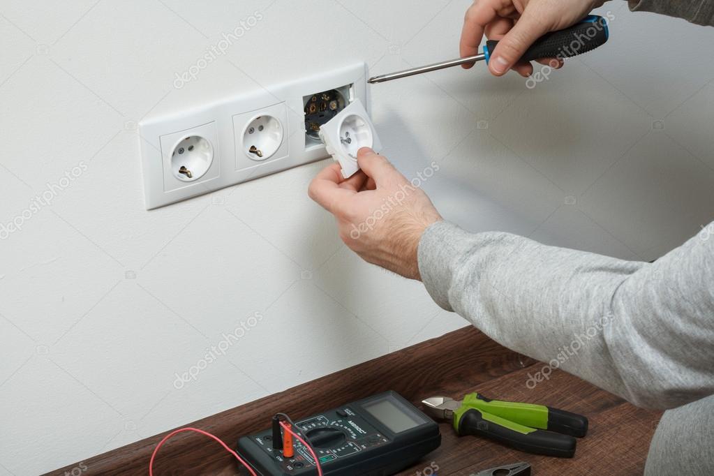 Electrical installation — Stock Photo © svetlovskiy #59796233