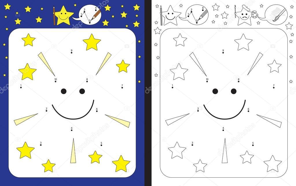 Kleine Sterne Arbeitsblatt — Stockvektor © nahhan #120669970