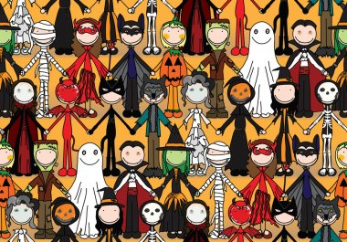 Happy kids seamless pattern