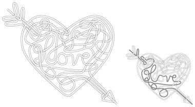 Illustrated love maze
