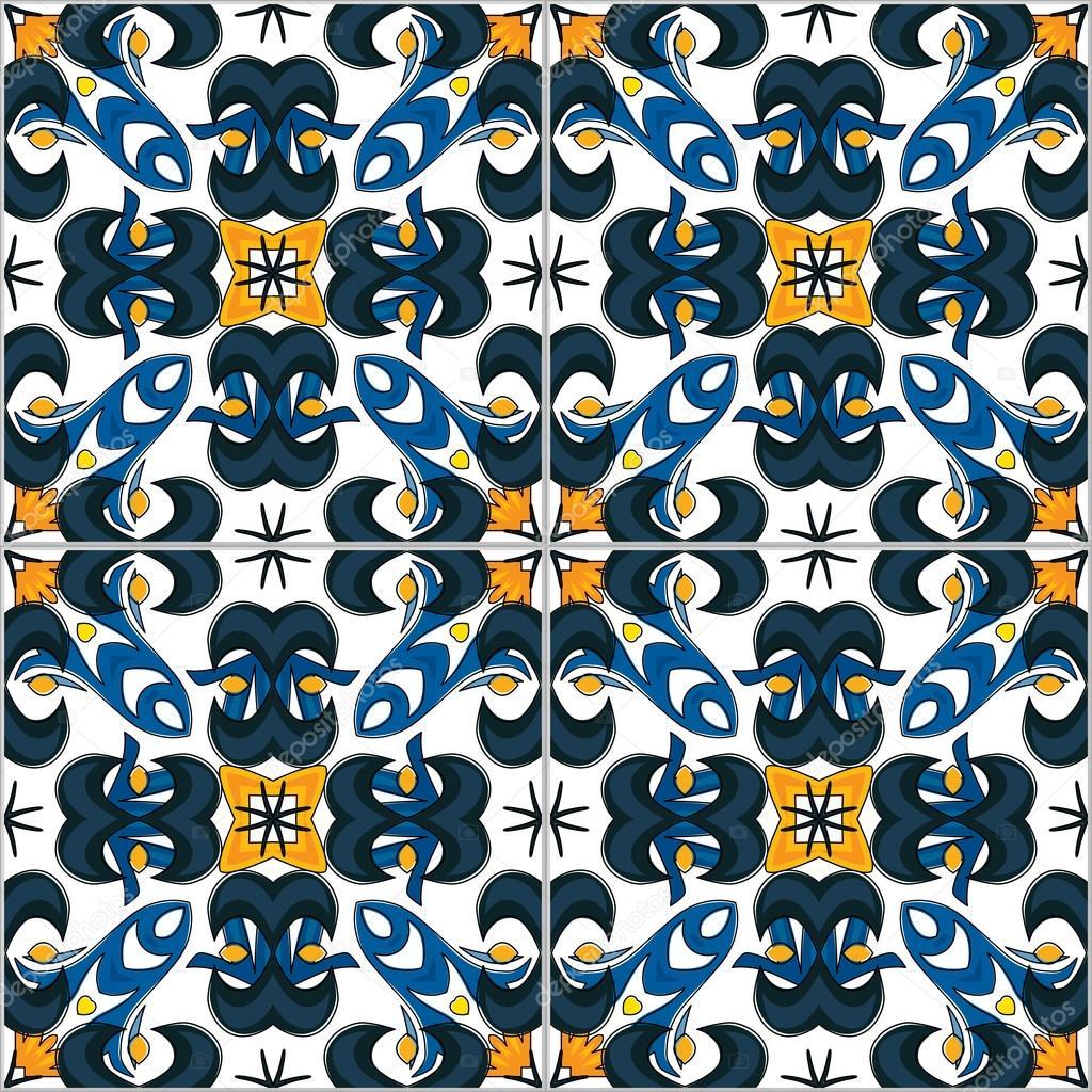Dibujos Azulejos Portugueses Vector De Stock C Nahhan 91137750 - Azulejos-con-dibujos