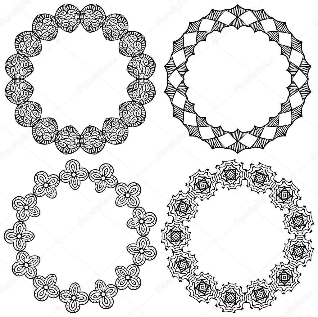 Decorativos círculos ilustrados — Archivo Imágenes Vectoriales ...