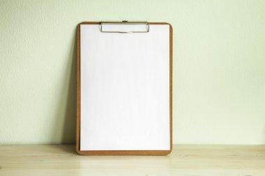 Empty wooden clipboard