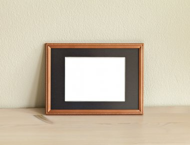 Image of a mockup scene with metal frame. stock vector