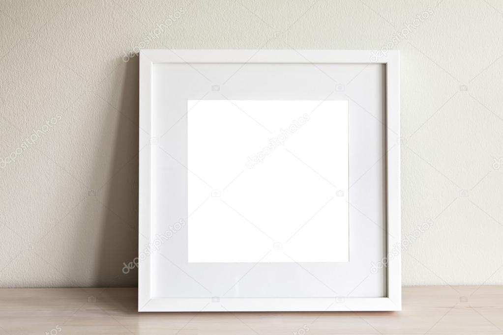 Maqueta de marco cuadrado blanco — Fotos de Stock © feferoni #101554770