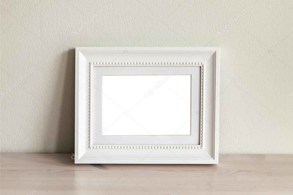 Marco de maqueta horizontal blanco — Foto de stock © feferoni #101554774
