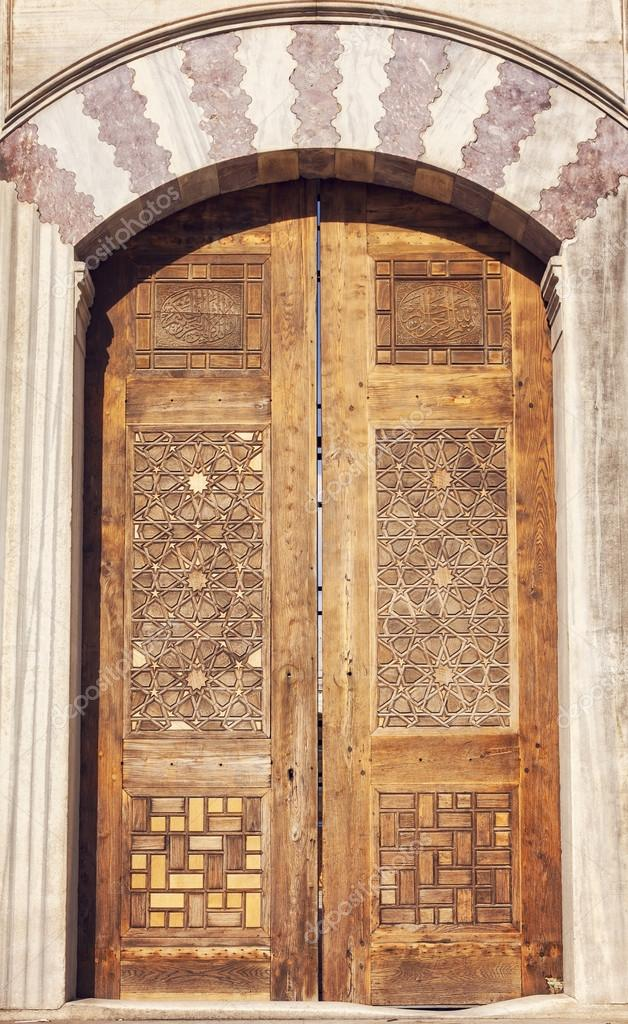 Ornate Mosque Door U2014 Stock Photo