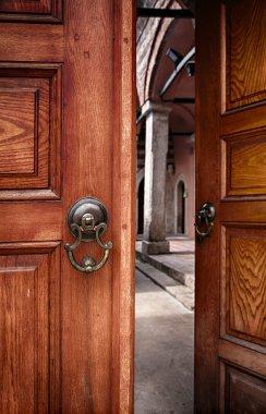 Half open doors