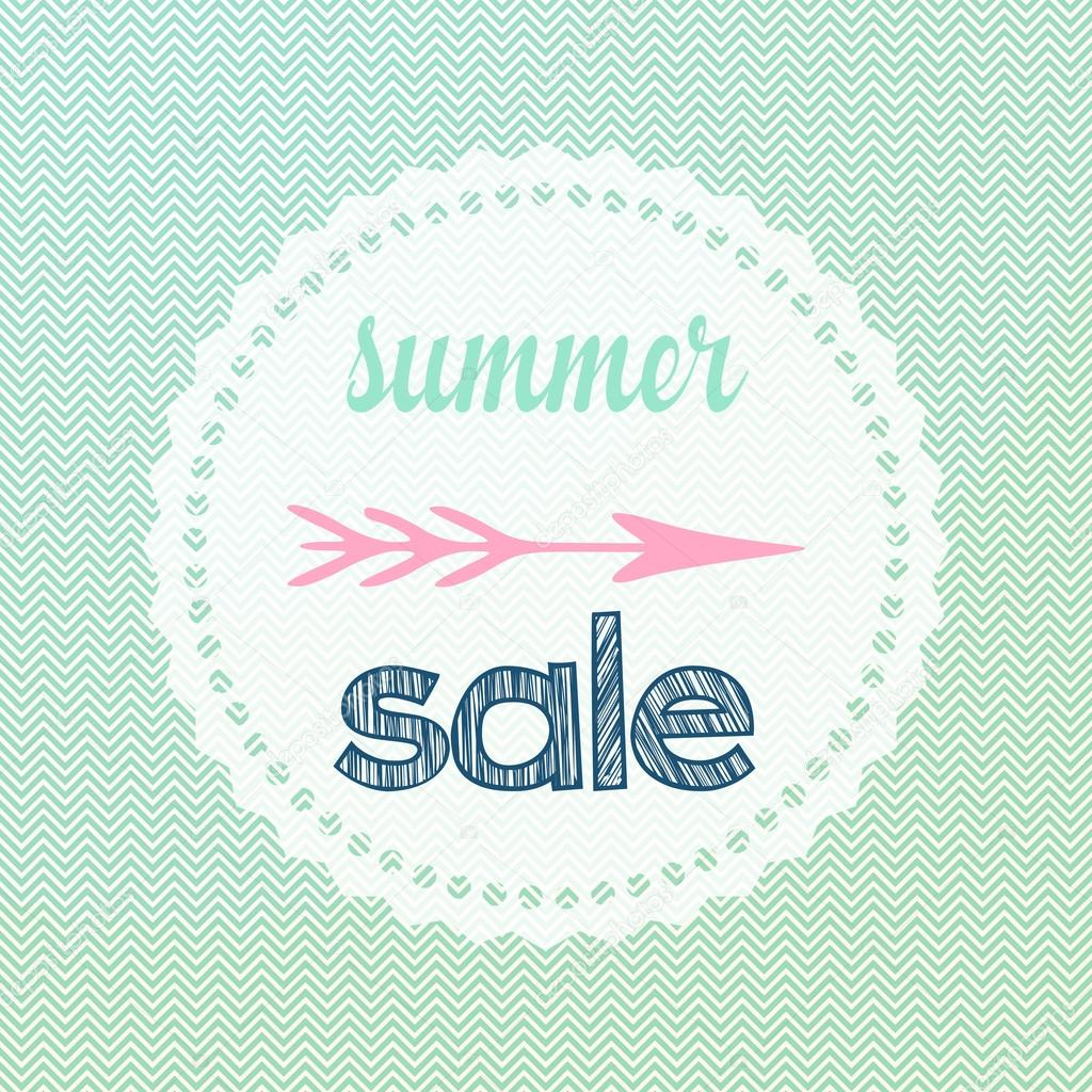 chevron summer sale sign stock photo feferoni 78810098