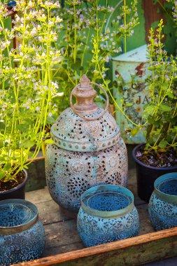 Rusty garden lanterns