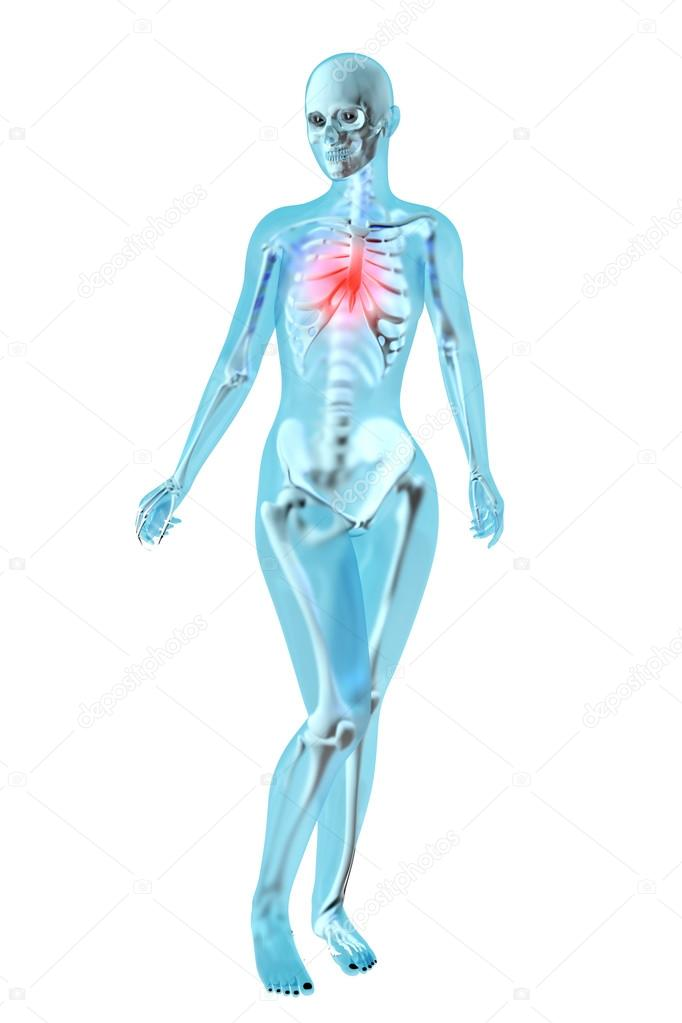 Female Anatomy - Chest pain — Stock Photo © Spectral #64862381