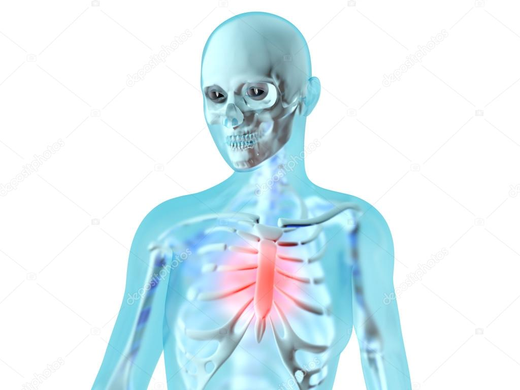 Female Anatomy Chest Pain Stock Photo Spectral 74115927