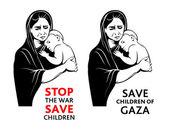 Save children stickers