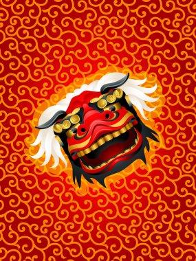 Lion mask background