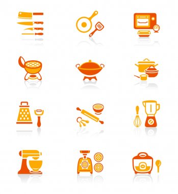Cooking utensil icons - JUICY series