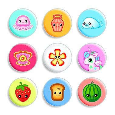 Kawaii badges - Set II