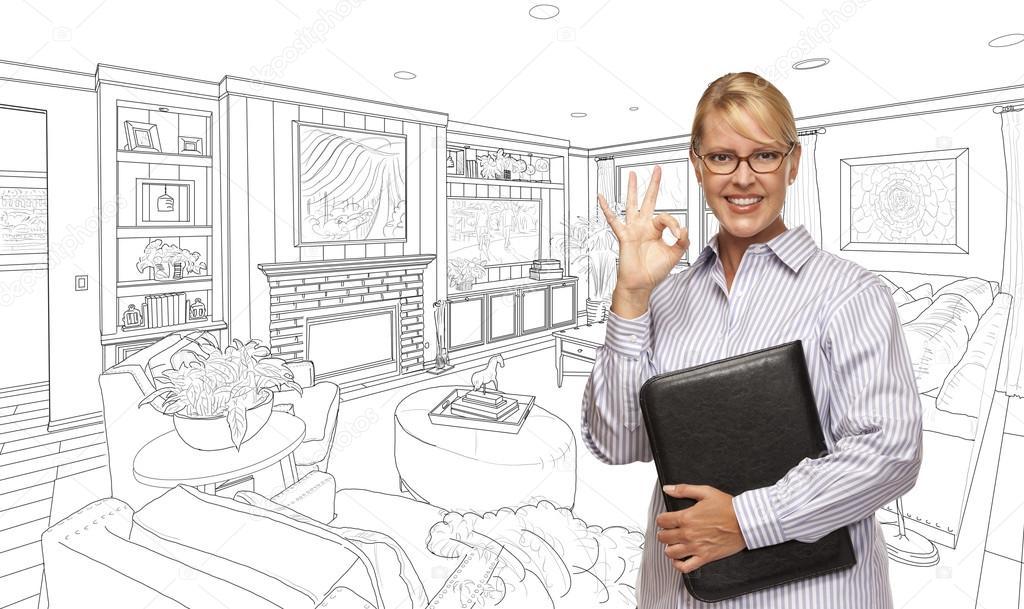 Nő a baj jel nappali rajz képen — Stock Fotó © Feverpitch #103276122