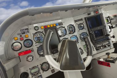 Cockpit of a Cessna Airplane.
