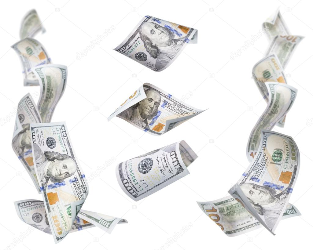 Left and Right Corner Frames of One Hundred Dollar Bills with 3 ...