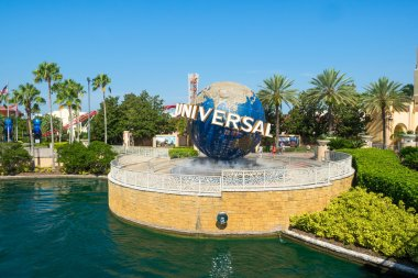 The famous globe at the Universal theme parks in Florida