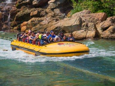 Jurassic Park ride  at Universal Studios Islands of Adventure