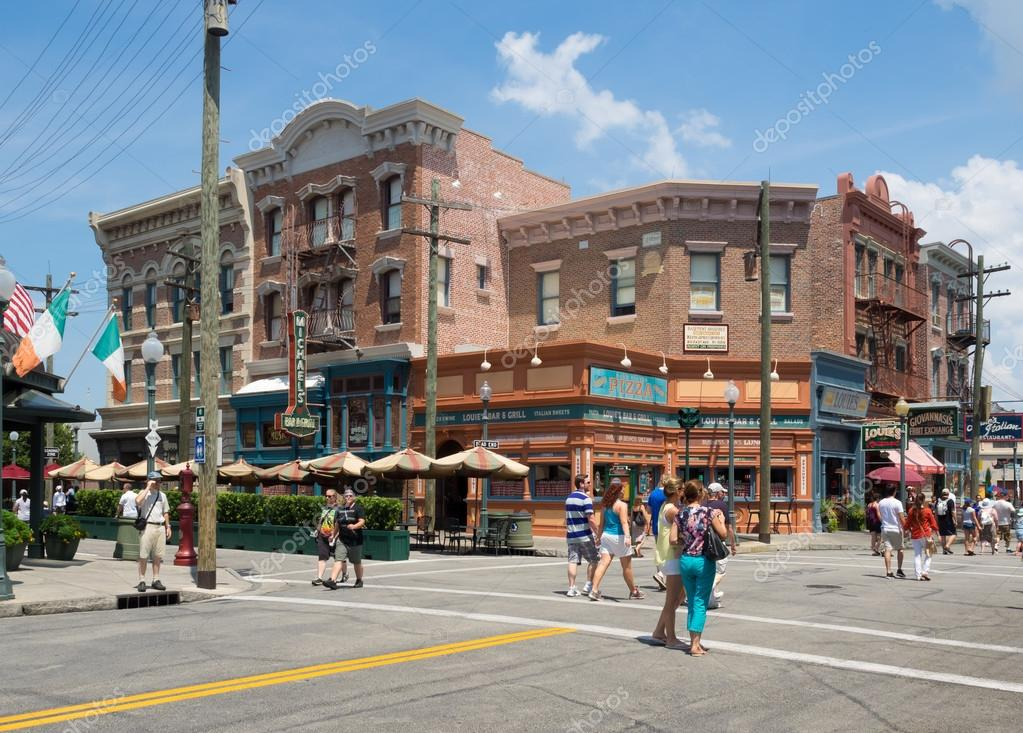 Shops And Restaurants At Universal Studios Florida Stock