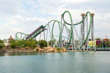 The Hulk Rollercoaster at  Universal Studios Islands of Adventur