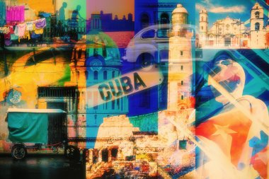 Collage of Havana Cuba images