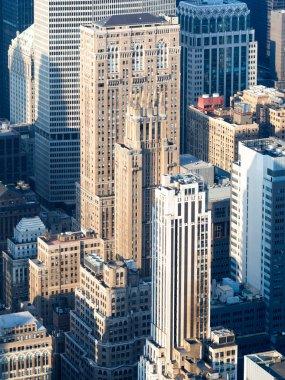 Vintage style skyscrapers in midtown New York