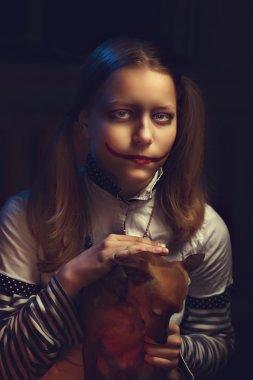 Clown teen girl